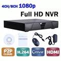 CCTV Mini DVR 4 Канал/8 Канал Сети Видео рекордер 4CH/8CH NVR P2P Onvif H264 с HDMI и VGA выход