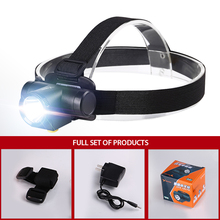 lampe frontale flashlight LED headlamp linterna frontal on the battery Rechargeable headlights powerful hoofdlamp