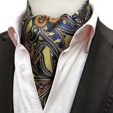 Новое поступление, британский стиль, мужская официальная одежда с воротником, роскошный Аскот с принтом пейсли, жаккардовый тканый