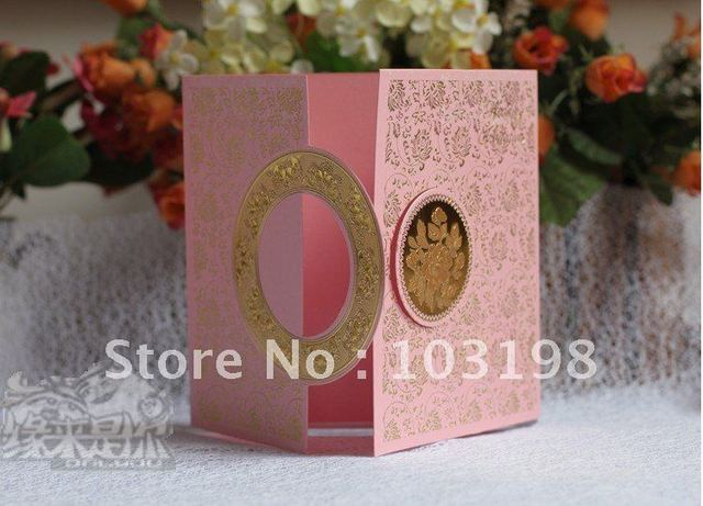 wholesale NEW Elegant Flower Wedding Invitation Cards with red,pink,white 200pcs/lot free shipping