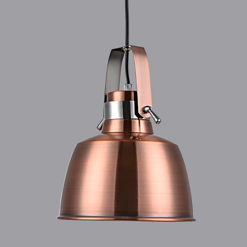 280mm Pendant Barn Lights / Metal Bell Shade with Brass Finish
