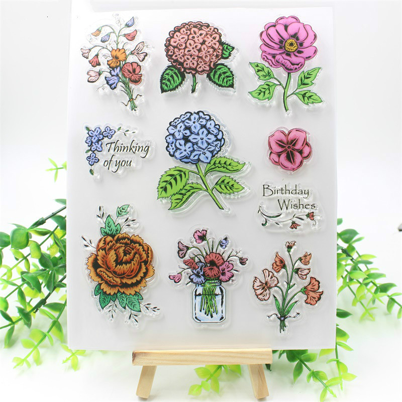 Thinking Of You Transparent Clear Silicone Stamps for DIY Scrapbooking/Card Making/Kids Fun Decoration Supply