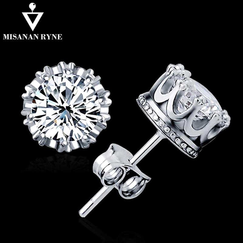 MISANANRYNE 2019 Stud Earings Fashion Jewelry Unisex Trendy Women/Men Crystal Earrings Crown Earring Piercing Gifts Wholesale FY