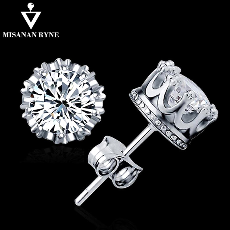 MISANANRYNE 2019 Stud Earings Fashion Jewelry <font><b>Unisex</b></font> Trendy Women/<font><b>Men</b></font> Crystal <font><b>Earrings</b></font> Crown <font><b>Earring</b></font> Piercing Gifts Wholesale FY image