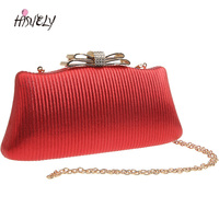 2019 Women's Butterfly Festival Clutch Handbag and Purse Ladies Diamond Sequined Evening Bags Wedding Party Chain Shoulder WY215