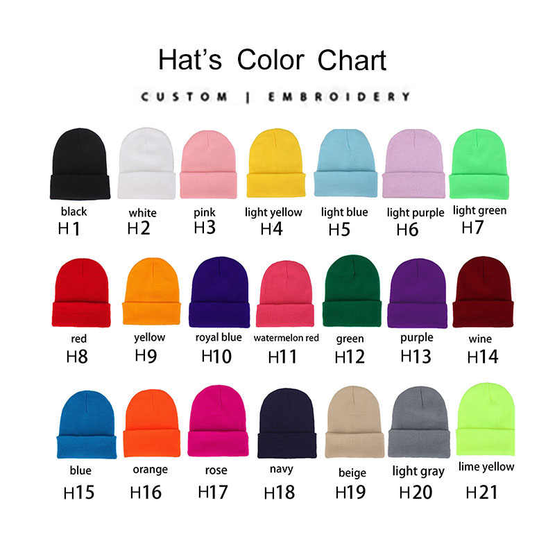 3c75c2cdd Personalized Custom Beanie Hat Skullie Cap Slouchy Winter Autumn Embroidery  Logo Choose Your Quote Name Design Text Thread Color