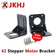 цена на 42 Stepper Motor Bracket 3D Printer Parts Alloy Steel Frame Fixed NEMA17 L Structure Base 1pcs gift Mounting screw