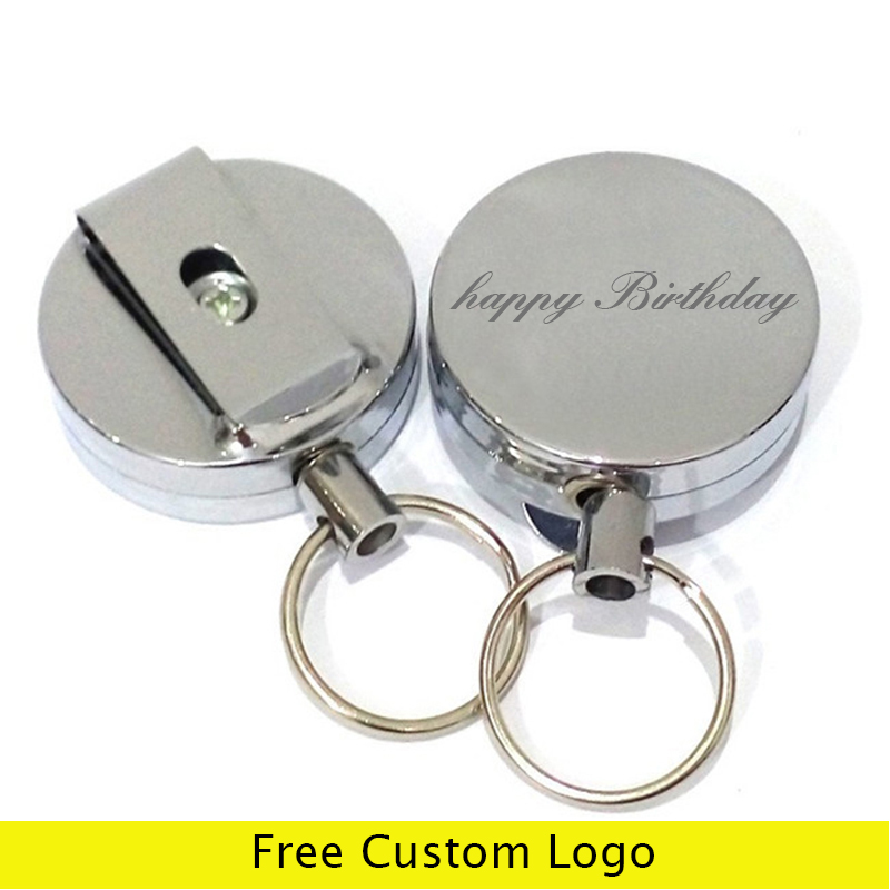 5 10 25 PCS ID Card Badge Holder Metal Clip for Reel Retractable Strap Lanyard