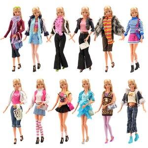 Модная красивая ручная работа, 3 предмета в партии, детские игрушки для детей, куклы, одежда, обувь, предметы для Барби, наряды, игры, сделай са...