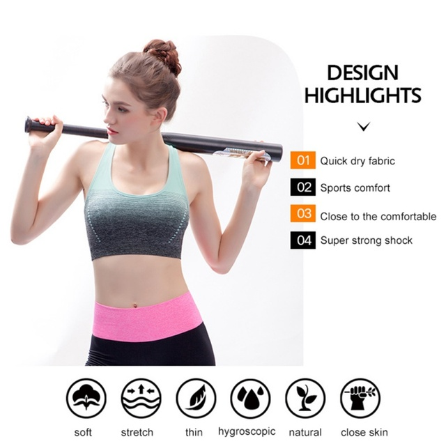 f963edb88218e High Stretch Breathable Sports Bra Top Fitness Women Padded Sport Bra for Running  Yoga Gym Seamless Crop Bra Gradient