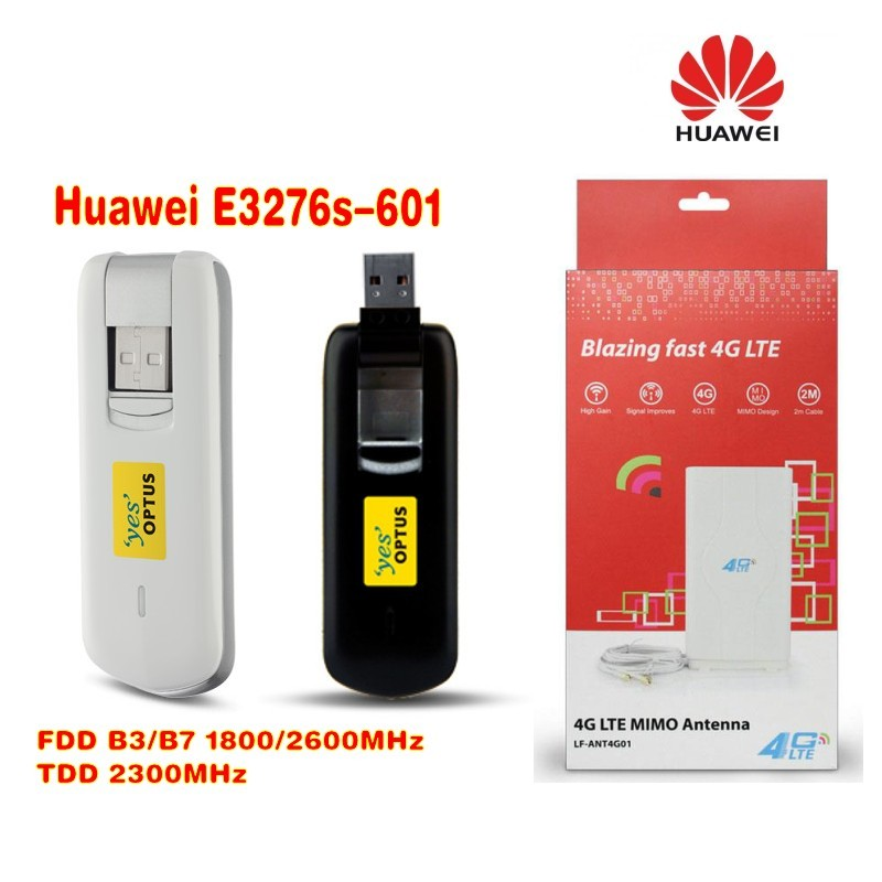huawei e3276S-601 4g lte modem FDD 1800/2600MHz TDD2300MHz plus 4g LTE mino Antenna 49dbi gain original unlocked huawei e3372 m150 2 lte fdd 150mbps 4g lte modem support lte fdd 800 900 1800 2100 4g crc9 49dbi dual antenna