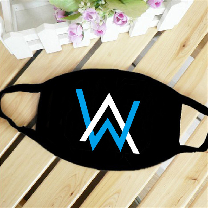 Hot Sale Alan Walker Faded Luminous Mask Black With Air Filter Mouth Mask