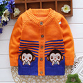 (3 pieces/lot)  Children's Clothing Girl Sweater Cartoon Monkey Kids Clothes Baby Boys Top Wear Children Sweaters 0855