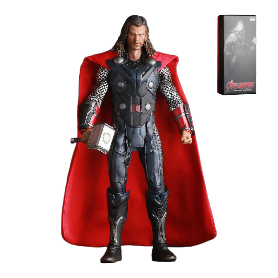 XINDUPLAN Marvel Shield America Anime Avengers Thor Hammer Large Size Action Figure Toys 29cm Scale Collection Model 0590 xinduplan marvel shield iron man avengers age of ultron mk45 limited edition human face movable action figure 30cm model 0778