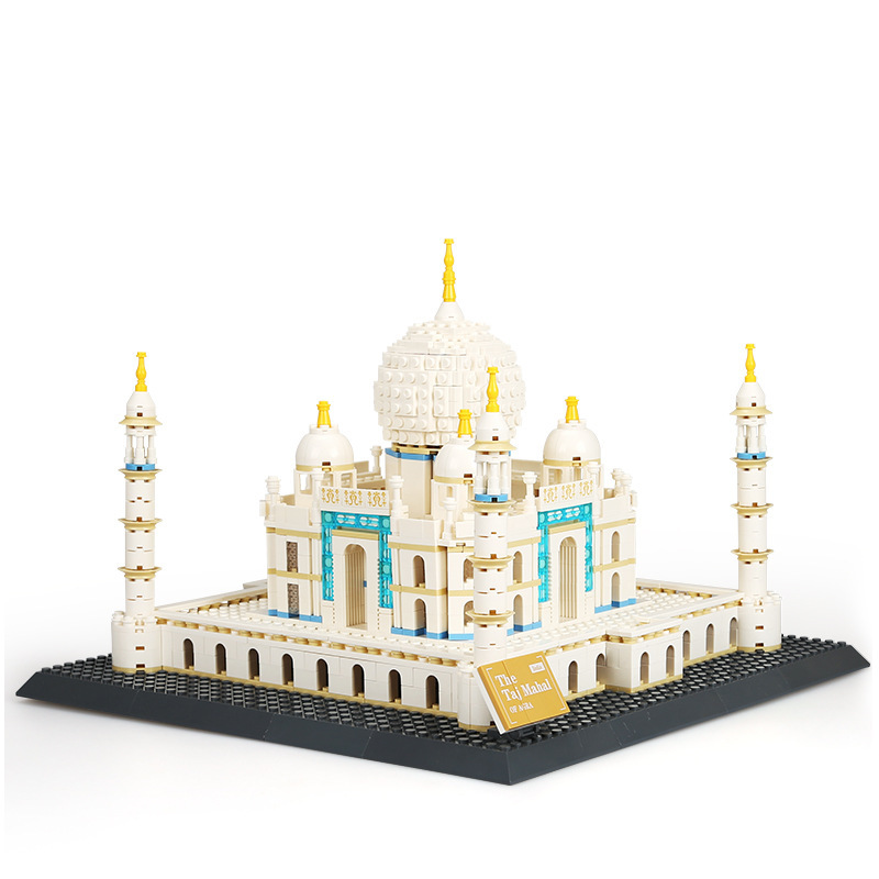 цена на 1505pcs Wange World Large Architecture Model Taj Mahal Building Blocks Educational Bricks Children Toys Kids brinquedos 5211