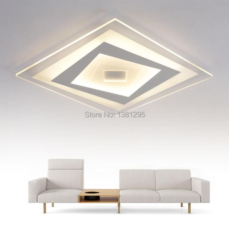 modern led ceiling lamp led bedroom living room ceiling light fixture square rectangle acrylic. Black Bedroom Furniture Sets. Home Design Ideas