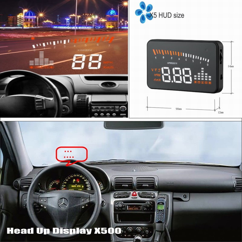Liislee Car HUD Head Up Display For Mercedes Benz C Class W204 2007~2014 - Safe Driving Screen Projector Refkecting Windshield