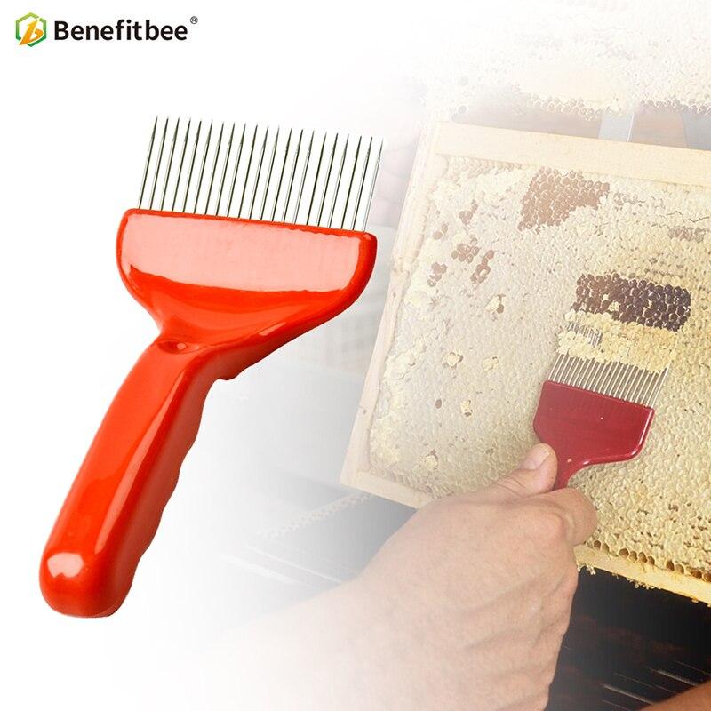 Benefitbee 21 Pin Stainless Steel Uncapping Comb Honey Fork Beekeeping Honey Tools Bee Keeping Uncapping Fork apiculture in Beekeeping Tools from Home Garden