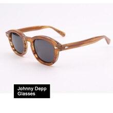 Johnny Depp Polarized Sunglasses Acetate Optical Glasses Fra