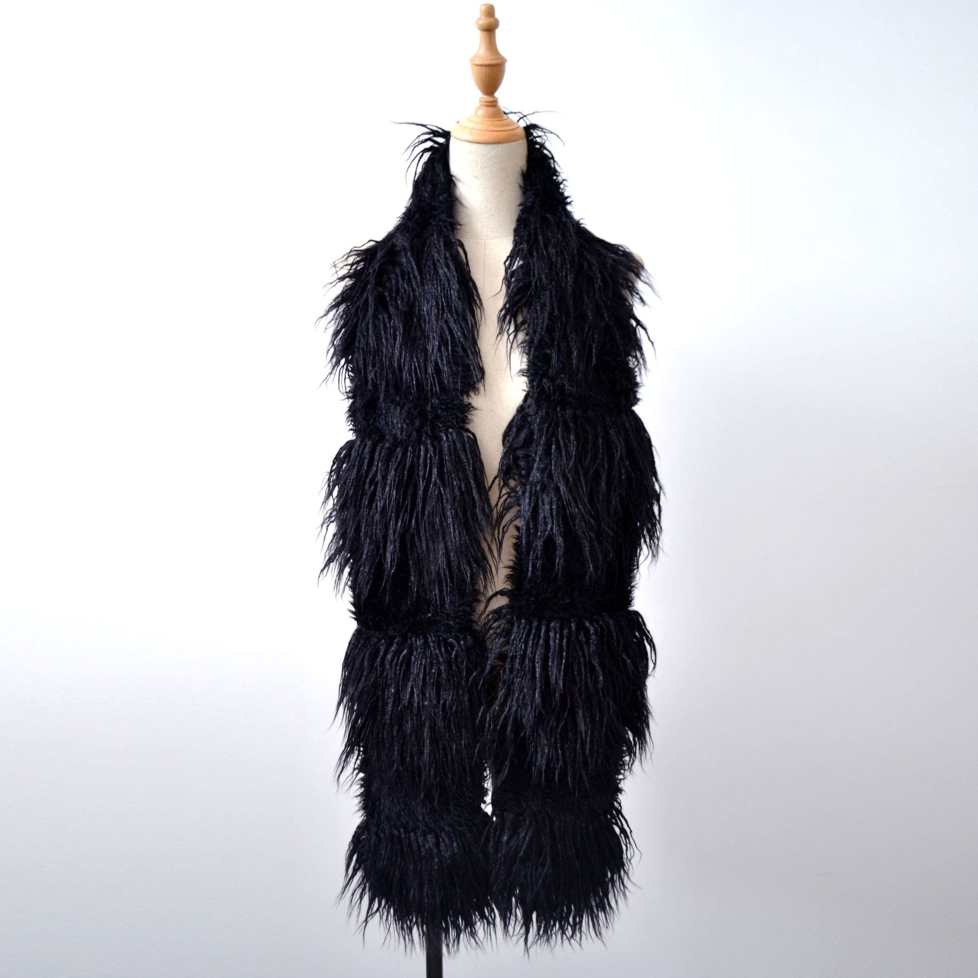 Lady Blinger faux sheep fur scarves long pile BOA warm winter fur scarves combination fur shawls and wraps