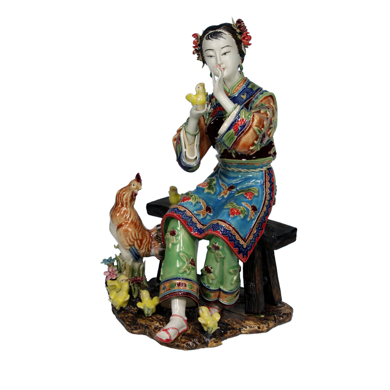 Antique Chinese Lady Ceramic Statue Pure Manual Figure Craft Collectible Porcelain Figurine Christmas Gifts Vintage Home DecorAntique Chinese Lady Ceramic Statue Pure Manual Figure Craft Collectible Porcelain Figurine Christmas Gifts Vintage Home Decor