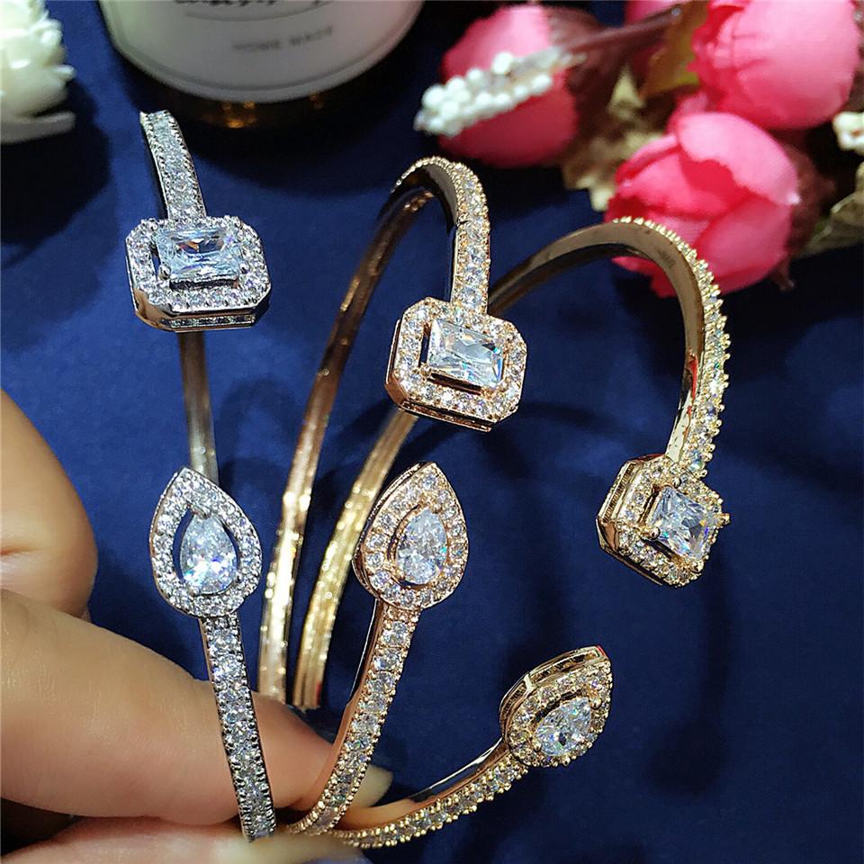 Hibrid роскошные открытые браслеты и с кубическим цирконием