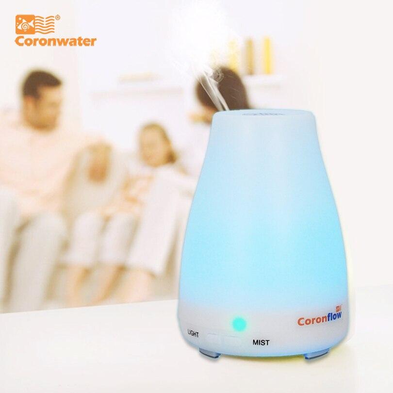 Umidificador de ar ultrassônico do difusor do óleo essencial do aroma 100ml com 7 luzes conduzidas em mudança da cor para o escritório em casa