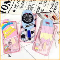 Multi Color 3D Ice Cream Design Soft TPU Silicone Phone Cases For Iphone 6S 6 Pls