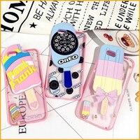 Multi Color 3D Ice Cream Design Soft TPU Silicone Phone Cases For Iphone 6S 6 Pls