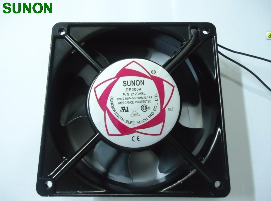 все цены на SUNON 12038  120*120*38MM 12CM double ball bearing DP200A 220V AC fans онлайн
