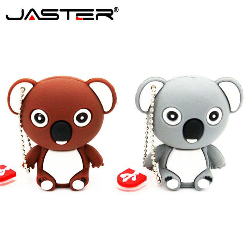 Lovely Flash USB Drive Koala Memory Stick USB Pen Drive 4GB 8GB 16GB 32GB 64GB Pendrive USB 2.0 Photography Gifts Chiavetta Usb