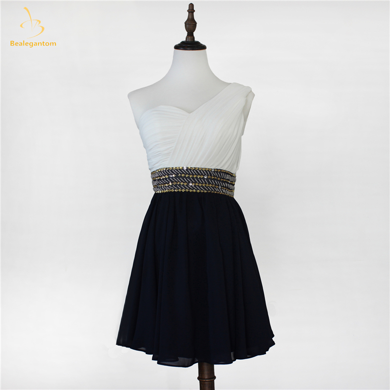 Bealegantom Stock Mini Short Chiffon Homecoming Dresses 2019 With Beaded Cocktail Prom Party Dresses Graduation Dress QA1314