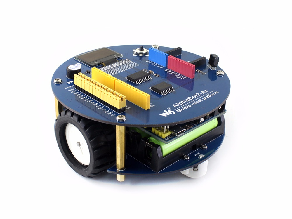 Waveshare AlphaBot2 robot building kit Ultrasonic sensor IR remote controller