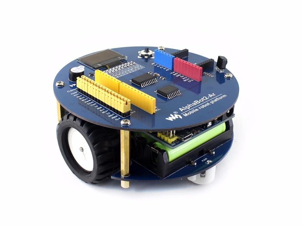 AlphaBot2 robot building kit +Ultrasonic sensor+IR remote controller alphabot2 ar robot building kit for uno plus ultrasonic sensor obstacle avoiding ir remote controller dual mode bluetooth