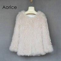 CR006 Горячая Новинка! Натуральная шерсть, флис шуба белый цвет женская меховая куртка Длинные Стиль Новый Женские трикотажные шубы