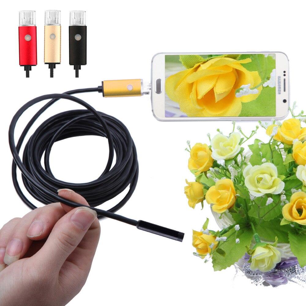 Gold/Black /Red 5.5mm Lens USB Endoscope Android OTG PC Endoscopio 2in1 Mini Endoscope Camera Waterproof Inspection Camera