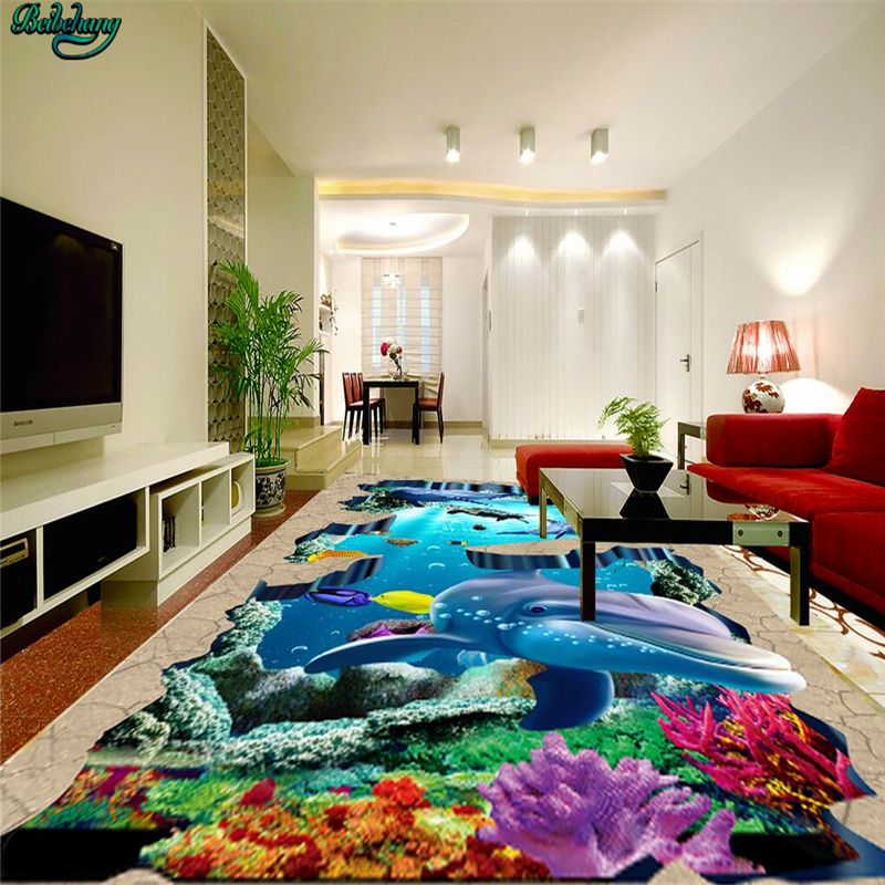 1 Room Kitchen Decoration: Beibehang Large Custom Underwater World Tropical Fish 3D