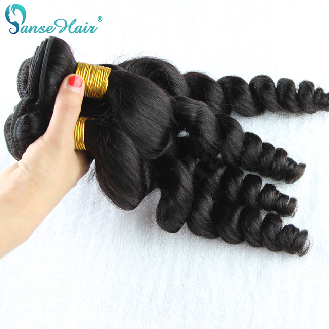 Panse Hair Loose Wave Mongolian Human Hair Weaving Customized 8 30