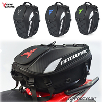 MOTO CENTRIC Motorcycle Tail Bags Back Seat Bags Travel Bag waterproof Motorbike Scooter Sports Luggage Rear Seat Rider Backpack