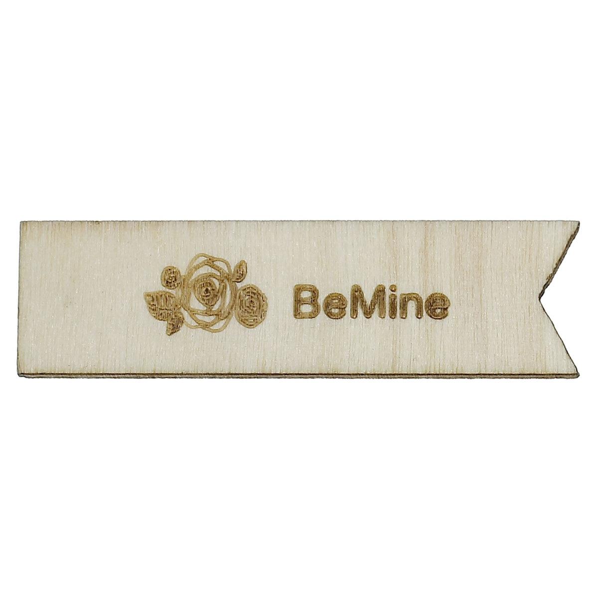 Wood Cabochons Scrapbooking Embellishments Findings Rectangle Natural MessageBeMineRose Flower 53mm x 15mm,50 PCs 2015 new
