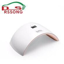 White Nail Dryer LED Lamp Fashion Bridge Shape DIY Nail Art Tool Nail Gel Rapid Drying Device SUN9  Portable Ladies Nail Tools
