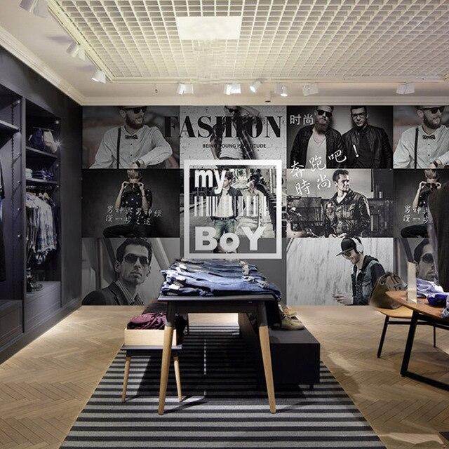 06a9fb5eed0 Пользовательские 3D фото обои древний британский стиль обои Для мужчин  магазин модной одежды одежда магазине спальня