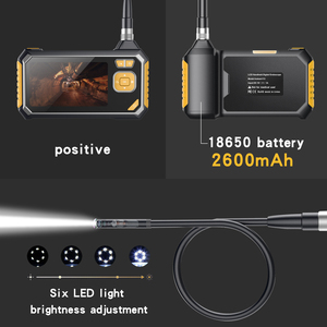 Image 3 - 4.3 inch 6LED 8mm Endoscope 1080P Inspection Camera Borescope 18650 Battery Industrial Snake Hard Handheld Endoscope