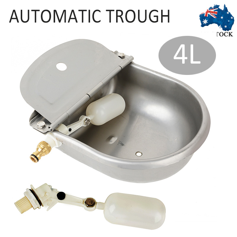 MAYITR 1pcs Automatic Water Trough Animal Bowl Sheep Dog Chicken Cow Auto Fill Bowl Stainless Steel Feeding Watering Supplies