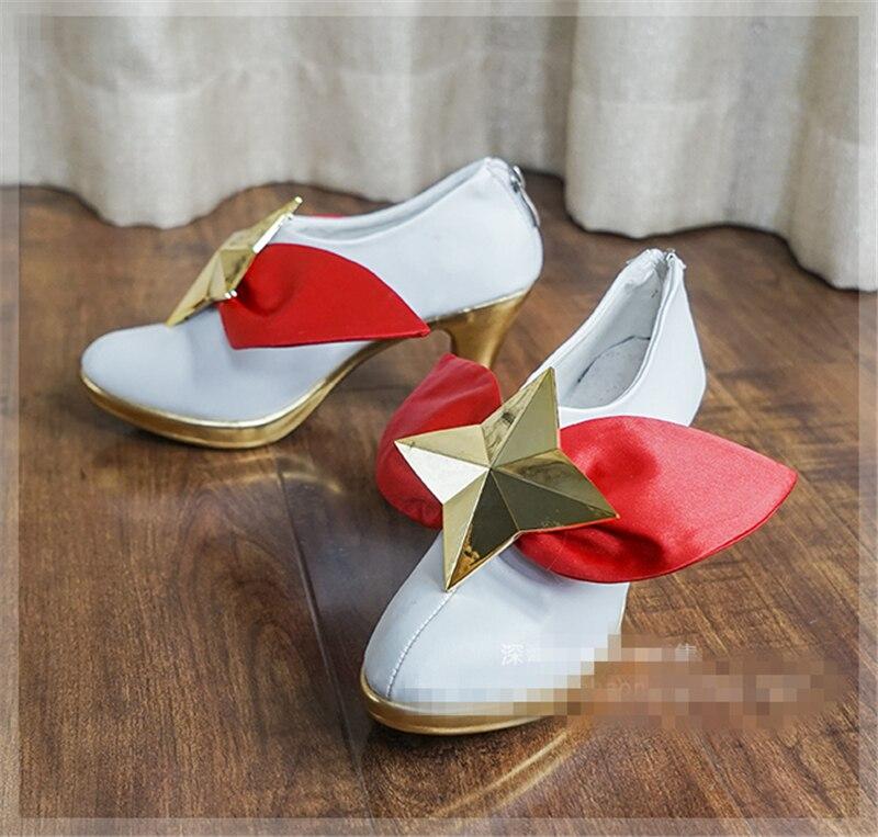 Jeu LOL étoile gardien magique fille Miss Fortune Cosplay chaussures femmes et fille belles chaussures
