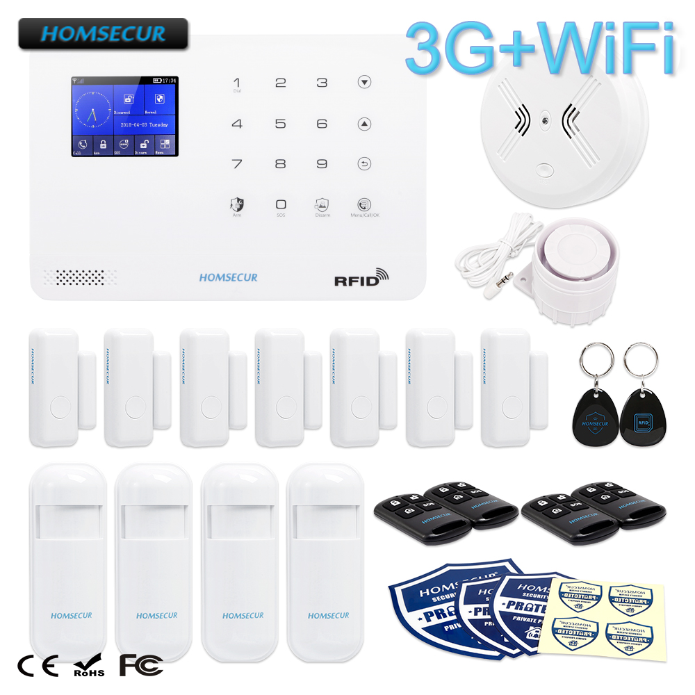 HOMSECUR Wireless LCD 3G/GSM RFID SMS Autodial Home Security Alarm System LA02-3GHOMSECUR Wireless LCD 3G/GSM RFID SMS Autodial Home Security Alarm System LA02-3G