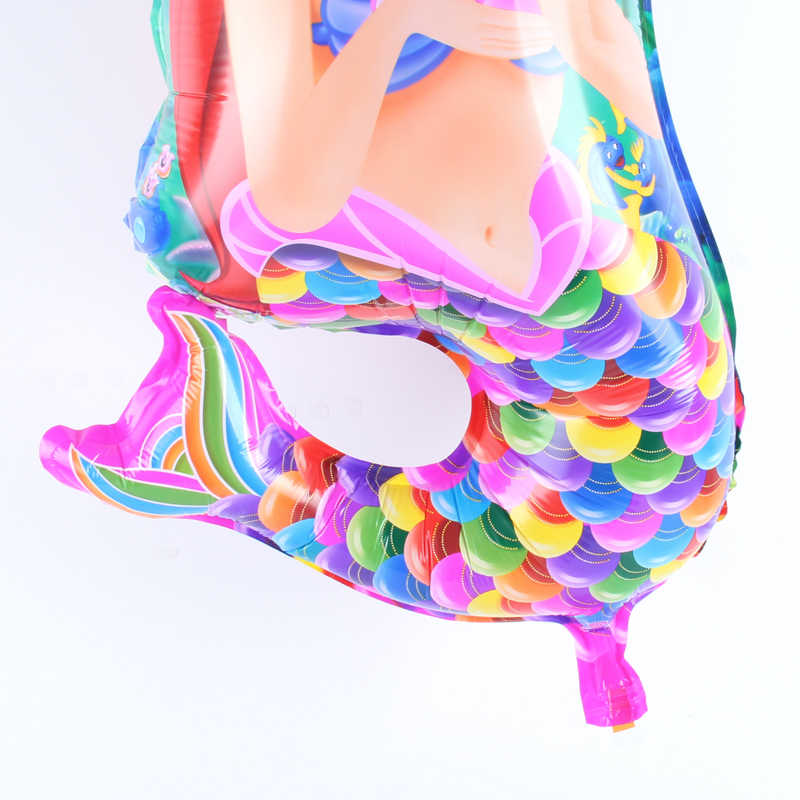 Cartoon Mermaid theme บอลลูนอลูมิเนียมฟอยล์บอลลูนงานแต่งงานวันเกิดตกแต่งบอลลูนอาบน้ำเด็กของเล่น supply