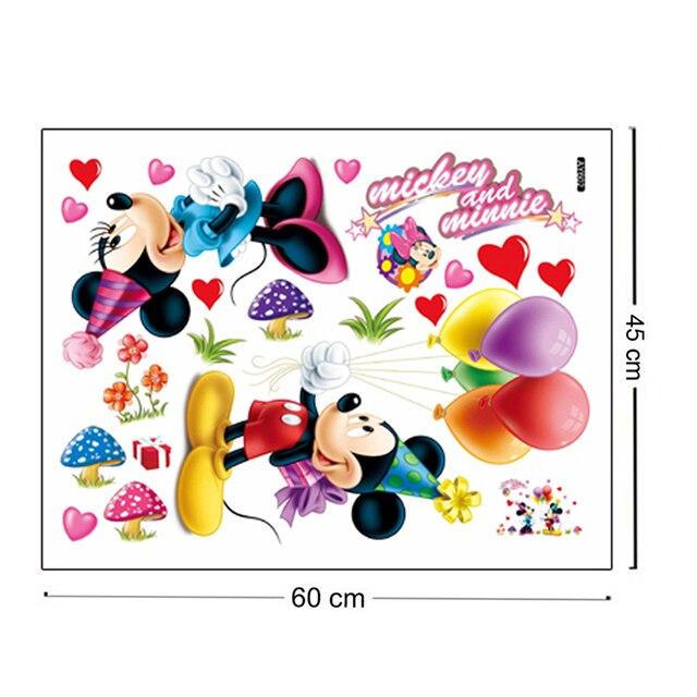 Autocollants muraux Mickey Minnie Mouse | Décoration murale, dessin animé, pour chambre denfants maternelle, décoration de maison, Art Mural, bricolage
