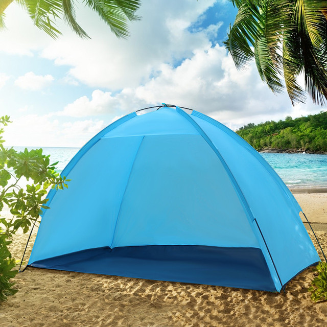 Beach Umbrella Tent Weather Shelter Sand Sun Shade Outdoor Uv