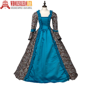 Renaissance Georgian Gothic Party Gown Steampunk Reenactment Theatrical Cosplay Costume